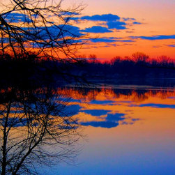 Cloud Reflections at Sunrise, Print (14 X 9.625in) - Cloud Reflections at Sunrise: Print (14 x 9.625in)