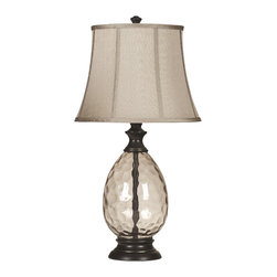 Signature Design by Ashley - Olivia 3-Way Table Lamps, Bronze, Set of 2 - Famous Brand Lamps presents the Set of 2 1-Light Olivia Table Lamps, featured in Bronze finish and complemented by a Beige Shade and Smoky glass, creating a harmonious and captivating ambience in the home
