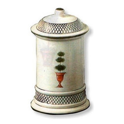 Artistica - Hand Made in Italy - Giardino: Canister - Giada Collection: