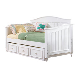 Samuel Lawrence - Samuel Lawrence SummerTime Day Bed with Trundle Storage Unit in Bright White - Summertime is a youth collection with an inviting appeal that suggests style, function and elegance of design. The pleasing Bright White finish blends with any decor allowing you to make a fashion statement and put fun into decorating with an assortment of items that is sure to create a just right environment. Versatile and adaptable to any age, Summertime is sure to be a favorite choice of many families looking for a collection that will age gracefully and provide timeless long term appeal.
