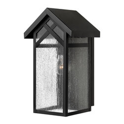 Hinkley - Hinkley Holbrook One Light Black Outdoor Wall Light - 1790BK-GU24 - This One Light Outdoor Wall Light is part of the Holbrook Collection and has a Black Finish. It is Outdoor Capable.