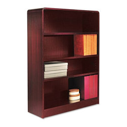 Alera - Alera BCR44836MY Aleradius Corner Wood Veneer Bookcase - Mahogany Brown - ALEBCR - Shop for Bookcases from Hayneedle.com! About AleraWith the goal of meeting the needs of all offices -- big or small casual or serious -- Alera offers an excellent line of furnishings that you'll love to see Monday through Friday. Alera is committed to quality innovative design precision styling and premium ergonomics ensuring consistent satisfaction.