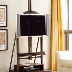 """Hammary - Structure Media Easel in Heavily Distressed Brown Finish - """"There is beauty in simplicity. And seldom does furniture possess more effortless beauty than Hammary's new """"""""Structure"""""""" collection."""