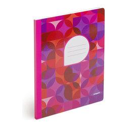 Evarich International Enterprise Co Ltd - Composition Notebook, Kaleidoscope C, Pink Back - Ideal for doodling, journaling, and prom date planning.Ships in: 1-2 business days