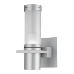 Kenroy Home Cilindro 1-Light Outdoor Sconce 90939SIL - 5W in. Silver - About Kenroy HomeEmployee-owned Kenroy Home creates a large range of lighting and home decor products. Having recently purchased Hunter Lighting Group, Kenroy Home is now positioned to expand their product lines and take their customer focus to the next level. With an experienced team and advanced equipment, Kenroy Home provides an unparalleled spectrum of products and services. Trained designers and technicians create functional works of art that exceed appearance and performance expectations. Their craftsmanship matches materials and finishes to each application for showroom quality at superior values. Product collections are designed to facilitate mix-and-match coordination.