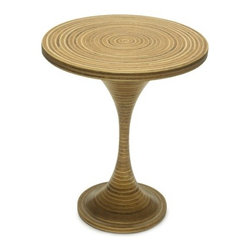 """Oggetti - Tavola Furniture Showtime End Table - Features: -Occasional table inlaid with rattan strips.-Tavola Furniture collection.-Collection: Oggetti Furniture.-Distressed: No.-Powder Coated Finish: No.-Gloss Finish: Yes.-Base Material: MDF.-Top Material: Split rattan and coconut twig.-Solid Wood Construction: No.-Number of Items Included: 1.-Nesting Tables: No.-Non-Toxic: No.-UV Resistant: No.-Scratch Resistant: No.-Stain Resistant: No.-Lift Top: No.-Storage Under Table Top: No.-Drop Leaf Top: No.-Magazine Rack: No.-Built In Clock: No.-Drawers Included: No.-Exterior Shelves: No.-Cabinets Included: No.-Glass Component: No.-Legs Included: No.-Casters: No.-Lighted: No.-Stackable: No.-Reclaimed Wood: No.-Adjustable Height: No.-Outdoor Use: No.-Swatch Available: No.-Commercial Use: Yes.-Recycled Content: No.-Eco-Friendly: No.-Product Care: Wipe clean with a damp cloth.-Built In Outlets: No.-Cable Management: No.-Powered: No.Specifications: -ISTA 3A Certified: No.-ISTA 1A Certified: No.-General Conformity Certificate: No.-Green Guard Certified: No.-ISO 9000 Certified: No.-ISO 14000 Certified: No.-UL Listed: No.Dimensions: -Overall Height - Top to Bottom: 24"""".-Overall Width - Side to Side: 20"""".-Overall Depth - Front to Back: 20"""".-Table Top Width - Side to Side: 20"""".-Table Top Depth - Front to Back: 20"""".Assembly: -Assembly Required: No.-Additional Parts Required : No.Warranty: -Product Warranty: 1 Year."""