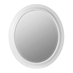 Cooper Classics - Cooper Classics Chelsea Oval Mirror, Chesapeake White - -Chesapeake white finish