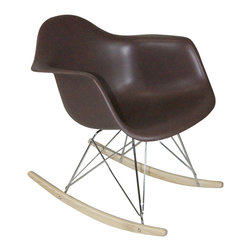 Mod Made Furniture - Mod Made Paris Tower Collection Rocker in Chocolate (Set of 2) - Offered in a plethora of colors, this Paris Tower Rocker is not just for grandma. Our version instills a fun modern look and feel to this timeless classic. Now you can rock your kids to sleep after a long days work, while looking fashionable.