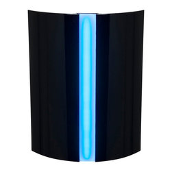 Access Lighting - Access Lighting Sail LED Modern / Contemporary Wall Sconce X-LB-DEL52007 - This Access Lighting wall sconce from the Sail Collection features a slim frame and wide body that draws the eye in thanks to the elegant shaping and bold Black tones. The blue acrylic accent has been paired with an LED light source, adding to the appeal of this modern wall sconce.