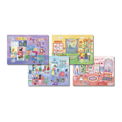 Oopsy Daisy - Jill McDonald Placemats - Girls Will Be Girls - Set Of Four - Jill McDonald Placemats - Girls Will Be Girls - Set Of Four