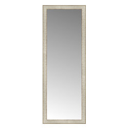 """Posters 2 Prints, LLC - 18"""" x 49"""" Libretto Antique Silver Custom Framed Mirror - 18"""" x 49"""" Custom Framed Mirror made by Posters 2 Prints. Standard glass with unrivaled selection of crafted mirror frames.  Protected with category II safety backing to keep glass fragments together should the mirror be accidentally broken.  Safe arrival guaranteed.  Made in the United States of America"""