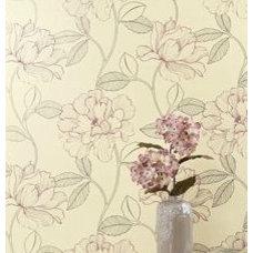 Wallpaper Pink Floral Wallpaper