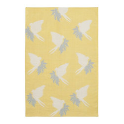 """Chandra - Contemporary Thomaspaul 5'x7'6"""" Rectangle Yellow-White Area Rug - The Thomaspaul area rug Collection offers an affordable assortment of Contemporary stylings. Thomaspaul features a blend of natural Yellow-White color. Hand Tufted of New Zealand Wool the Thomaspaul Collection is an intriguing compliment to any decor."""