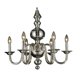 "Worldwide Lighting - Murano Venetian Style 6 Light Blown Glass in Golden Teak Finish 24"" D x 22"" H - This stunning 6-light chandelier only uses the best quality material and workmanship ensuring a beautiful heirloom quality piece. Featuring a hand crafted quality golden teak glass in traditional Italian style and gleaming polished chrome finish hardware thats actually blown into the glass during the production process, this elegant chandelier is a work of art in its quality and beauty. Worldwide Lighting Corporation is a privately owned manufacturer of high quality crystal chandeliers, pendants, surface mounts, sconces and custom decorative lighting products for the residential, hospitality and commercial building markets. Our high quality crystals meet all standards of perfection, possessing lead oxide of 30% that is above industry standards and can be seen in prestigious homes, hotels, restaurants, casinos, and churches across the country. Our mission is to enhance your lighting needs with exceptional quality fixtures at a reasonable price."
