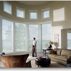 Hunter Douglas Silhouette Shades - Hunter Douglas Silhouette Shades,Layered between two elegant sheers, soft fabric vanes close for full privacy and open to reveal a soft view of the outside. Silhouette's soft, light diffusing vane and double sheer fabrics blend to create a unique visual experience. When fully raised, the smooth, contoured head rail conceals the entire shade, giving your windows a clean and uncluttered look.  We invite you to see for yourself the many features and benefits of the Silhouette shade.