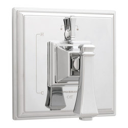 Speakman - Speakman Rainier Pressure Balance Diverter Valve Trim in Polished Chrome - Think outside of the box with the prominent square contours of Speakman's Rainier Pressure Balance Diverter Valve Trim. The unique, sharp borders of this square trim team with other distinct members of the Rainier Collection to provide a bold update to your current bathroom decor. This modern valve trim is available in Speakman's signature Polished Chrome finish to effortlessly fuse with your bathroom's existing fixtures and decor. The Rainier diverter valve trim is designed to combine with Speakman Pressure Balance Diverter Valves to provide the ultimate luxury bathing experience. The Speakman Rainier Pressure Balance Diverter Valve Trim features a metal valve handle, durable plastic plating and includes mounting plate and hardware.