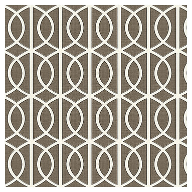 Taupe Modern Trellis Linen Fabric - Rounded trellis in taupe & white on soft lightweight line. Your gateway to a chic modern look.Recover your chair. Upholster a wall. Create a framed piece of art. Sew your own home accent. Whatever your decorating project, Loom's gorgeous, designer fabrics by the yard are up to the challenge!