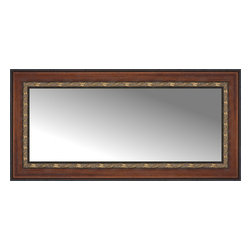 """Posters 2 Prints, LLC - 38"""" x 19"""" Malabar Walnut Custom Framed Mirror - 38"""" x 19"""" Custom Framed Mirror made by Posters 2 Prints. Standard glass with unrivaled selection of crafted mirror frames.  Protected with category II safety backing to keep glass fragments together should the mirror be accidentally broken.  Safe arrival guaranteed.  Made in the United States of America"""