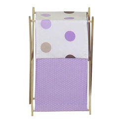 Purple Mod Dots Hamper