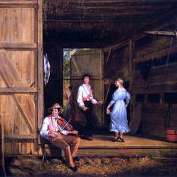 """William Sidney Mount Dancing on the Barn Floor  Print - 16"""" x 20"""" William Sidney Mount Dancing on the Barn Floor premium archival print reproduced to meet museum quality standards. Our museum quality archival prints are produced using high-precision print technology for a more accurate reproduction printed on high quality, heavyweight matte presentation paper with fade-resistant, archival inks. Our progressive business model allows us to offer works of art to you at the best wholesale pricing, significantly less than art gallery prices, affordable to all. This line of artwork is produced with extra white border space (if you choose to have it framed, for your framer to work with to frame properly or utilize a larger mat and/or frame).  We present a comprehensive collection of exceptional art reproductions byWilliam Sidney Mount."""