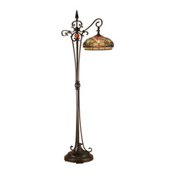 Dale Tiffany - Dale Tiffany TF13065 Briar Dragonfly 1 Light Torchiere Lamp - Features: