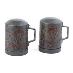 Old Dutch - Old Dutch Art Nouveau Stove Stop Salt and Pepper Set - 504 - Shop for Herb and Spice from Hayneedle.com! Make your kitchen a bastion of design with the Old Dutch Art Nouveau Stove Stop Salt and Pepper Set. The early 20th century was a time for beauty in design and now you can easily recapture the look with this artisan-crafted set. The verdigris and copper finish is the perfect accent to your kitchen and is the easy way to add a touch of elegance and style.About Old Dutch InternationalFamous for their copperware Old Dutch International Ltd. has been supplying the best in imported housewares and giftware to fine retailers throughout America since 1950. They offer a large assortment of housewares including bakers racks trivets and pot racks in materials like chrome colorful enamel and stainless steel. Other product lines include wine racks serving trays specialty cookware clocks and other home accessories. Old Dutch warehouses and distributes their products from a 30 000 square foot facility in Saddle Brook N.J.