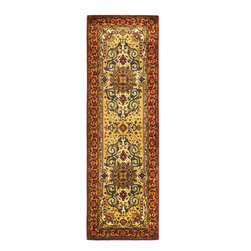 """Safavieh - Traditional Persian Legend Hallway Runner 2'6""""x8' Runner Ivory-Rust Area Rug - The Persian Legend area rug Collection offers an affordable assortment of Traditional stylings. Persian Legend features a blend of natural Ivory-Rust color. Hand Tufted of Wool the Persian Legend Collection is an intriguing compliment to any decor."""