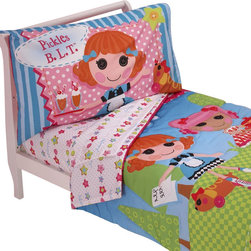 Crown Crafts Infant Products - Lalaloopsy Toddler Bedding Set One Kind Comforter Sheets - FEATURES: