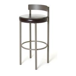 Amisco - Amisco Zoe Non Swivel Stool 40468, 26 Inches (Counter Height) - *Swivel seat