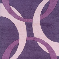 "Linon - Contemporary Corfu 1'10""x2'10"" Rectangle Purple-Baby Pink Area Rug - The Corfu area rug Collection offers an affordable assortment of Contemporary stylings. Corfu features a blend of natural Purple-Baby Pink color. Machine Made of 100% Heat Set Frieze Yarn Pile the Corfu Collection is an intriguing compliment to any decor."