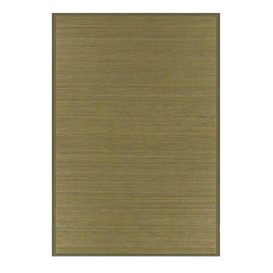 None - Wood-tone Bamboo Rug (6' x 9') - Neutral colors combine in the subtle striped pattern of this casual bamboo rug that protects your floor from everyday wear. With durable, easy-to-care-for bamboo material, this rug makes a great choice for a busy entryway or other high-traffic area.
