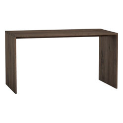 Sentry II Walnut Work Table - An entryway console looks good in wood.