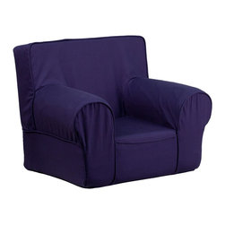 Flash Furniture - Flash Furniture Children's Chairs Kids Small Chairs X-GG-LB-DILOS-DIK-HC-GD - This comfy foam chair is a fun piece of furniture for children to enjoy for reading and relaxing. The lightweight design with carrying handle will allow this chair to be toted in several locations. The slipcover can be removed for cleaning or spot cleaned upon accidents. [DG-CH-KID-SOLID-BL-GG]