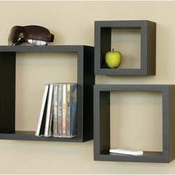 3 Piece Cubby Wall Shelf - Create a modern display that is as functional as it is fun with the 3 Piece Cubby Wall Shelf. This set of three wall-mounted accent shelves comes in select finish options and features hidden mounting hardware. Set includes one 4-by-5-by-5-inch shelf that holds up to 10 lbs., one 4-by-7-by-7-inch shelf that holds up to 20 lbs., and one 4-by-9-by-9-inch shelf that holds up to 30 lbs.