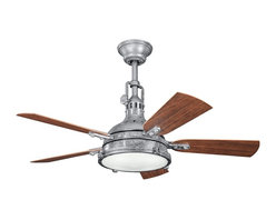 Kichler Lighting - Kichler Lighting Hatteras Bay Patio Traditional Ceiling Fan X-TSG101013 - This four-blade WET rated Porters Lake fan in Aged White, is at home in coastal cottage styled homes or patios and porches thanks to its wet location rating and lakeside cabin design.
