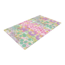 """Kess InHouse - Chickaprint """"Impression"""" Pastel Mix Woven Area Rug (22.5"""" x 37"""") - Splash your floors with artwork! That's right, I said your floors. With these woven polyester jacquard area rugs adding a splash or pop of artwork is a breeze. Use it in just about any room, even the bathroom! These woven area rugs will leave all of your guests envious as they walk through your artistic home!"""