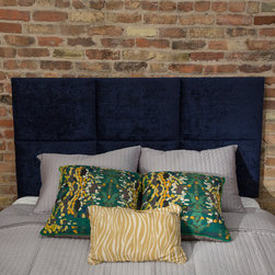 Photo Shoot Fun - Upholstered headboard for queen bed by Heady Bed
