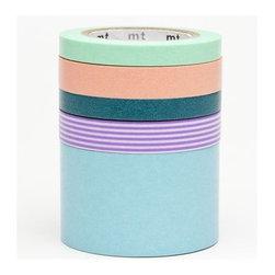 Washi Masking Tape by mt, 5 pieces - Washi Masking Tape set with 5 pcs