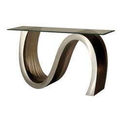 Nova Lighting - Nova Lighting CST15RBA Meandering Console Table - Nova Lighting CST15RBA Meandering Console Table