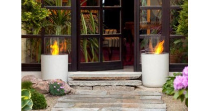Contemporary Fire Pits Villa-Terrazza Outdoor Firepit uses Ethanol