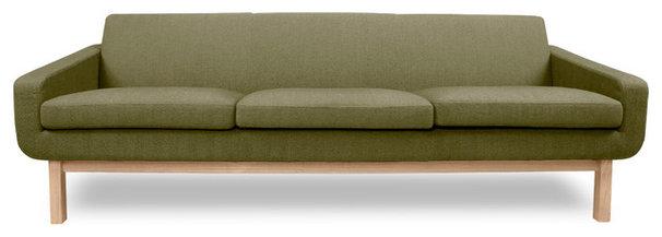 Modern Sofas Richmond Green 3-Seat Sofa