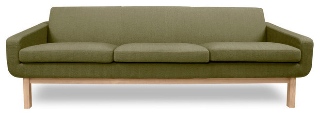 Modern Sofas Richmond Green 3-Seat Sofa
