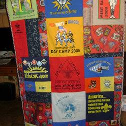 Boy Scout T-Shirt Quilt - Memories