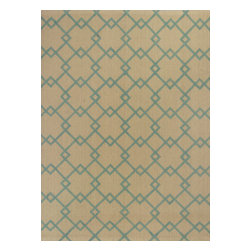 KAS - Kas Natura 2265 Aqua Casa Rug - 6 ft 6 in x 9 ft 6 in - Kas Natura 2265 Aqua Casa Area Rug. Kas Natura 2265 Aqua Casa Area Rug. Our KAS Natura rugs pump up Eastern Indian motifs for a colorful, casual look. These vivid works of art will add fun and function to your room setting in fresh, updated colorations. Natura rugs have been machine woven in India, ensuring the heavy-duty jute construction provides durability and rich texture for your active lifestyle. Each modern Natura rug is ready to make a wow-statement in your contemporary space.