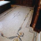 Custom Apollo Stone Mosaic - Custom Apollo rug in Botticino, Verde Luna, Spring Green, Verde Alpi, Rosa Verona, Giallo Reale and Renaissance bronze.