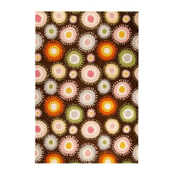 Mat-The-Basics - Sombrero Rug by Mat-The-Basics - The playful pattern and vibrant colors of the Mat-The-Basics Sombrero Rug will add a sense of whimsy to any modern living space, especially kids' rooms. This rug is as soft as it is cheerful, hand tufted out of a blend of European wool and then hand carved to bring out the details of each ring and surrounding spokes. Mat-The-Basics has pioneered a new type of carpet - refined, handmade rugs that combine innovative design with a dedication to the highest standards of craftsmanship. These carpets, inspired from contemporary shapes and colors, are created using the traditional techniques of skilled weavers including hand-tufting, hand-weaving and hand-knotting methods.