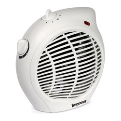 Impress - Impress IM-701 1500 watt 2-speed Fan Heater with Adjustable Thermostat (Refurbis - With two speeds to heat,as well as a fan only setting,this Impress 1500-watt heater will keep you warm on those chilly nights. With an overheat protection circuit and adjustable thermostat control,this heater is perfect for your home.