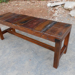Reclaimed Old Wood Rest Benches - Please noted, all of products can be customized in size and finishings. The price is changed depend on the customizations.