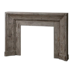 Carolyn Kinder - Carolyn Kinder Khuri Traditional Accent Table X-00842 - Bringing the past forward with this art deco inspired mantel and surround, made from solid fir wood, stonewashed with natural gray undertones for antique appeal.
