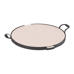 Guy Fieri - Guy Fieri 2-piece Pizza Stone Stoneware Set - Guy's 2-Piece Pizza Stone Stoneware Set will turn your conventional oven into a brick oven for baking scrumptious golden crusts, fresh dough, or frozen pizza. It's also perfect for baking breads, rolls, or cookies.